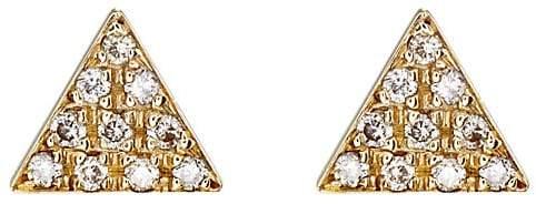Jennifer Meyer Women's Triangle Stud Earrings