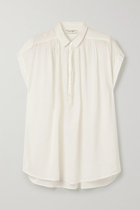 Nili Lotan Normandy Cotton-voile Blouse - Ivory