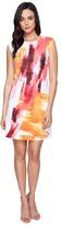 Calvin Klein Cap Sleeve A-Line Dress in Brush Stroke Print CD6M7L8U