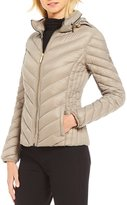 MICHAEL Michael Kors Packable Chevron Zip Front Down Jacket