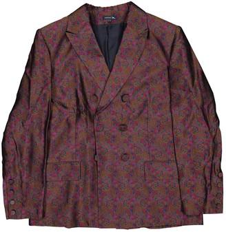 soeur Burgundy Silk Jackets