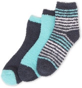 Ellen Tracy 3-Pack Mini Stripe Cozy Crew Socks