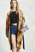 Forever 21 FOREVER 21+ Contemporary Floral Kimono