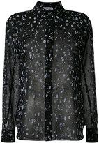 Carven splatter print sheer shirt - women - Silk/Polyester - 36