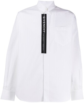 Givenchy Striped Branded-Tape Shirt