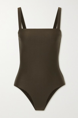 Matteau Net Sustain Stretch-repreve Swimsuit - Dark green