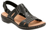 Clarks Cushion Soft Leisa Lakelyn Leather Flat Sandals