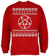 Old Glory Satanic Pentagram Ugly Christmas Sweater Adult Sweatshirt
