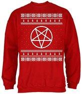 Old Glory Satanic Pentagram Ugly Christmas Sweater Adult Sweatshirt