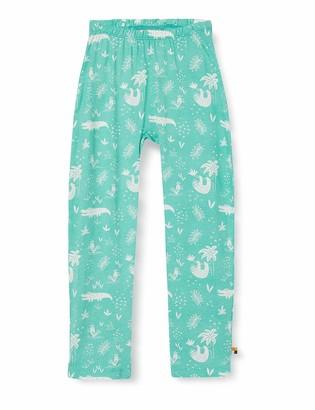loud + proud Girl's Pant Allover Print Organic Cotton Trouser