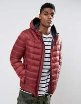 Napapijri Aerons Quilted Hooded Jacket In Burgundy