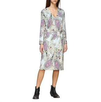Etro Dress Jersey Dress With Paisley Print