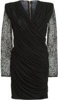 Balmain paisley lace fitted dress - women - Polyamide/Viscose - 34