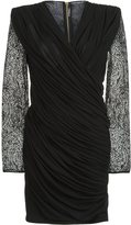 Balmain paisley lace fitted dress