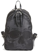 John Varvatos Men's Skull Print Backpack - Black