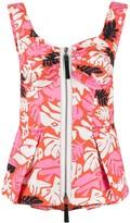 Marni tropical print zipped top