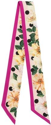 Dolce & Gabbana Floral-Print Silk Slim Scarf