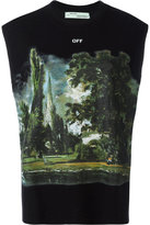 Off-White 'Woman' graphic print tank top - women - Cotton/Viscose/Silk - XS