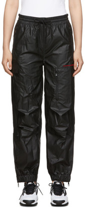 Alexander Wang Black Pleather Chynatown Track Pants