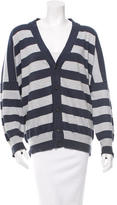 Maison Margiela Striped V-Neck Cardigan