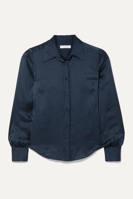 Frame 70s Hammered Silk-satin Shirt - Navy