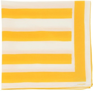 Lardini Striped Silk & Cotton Scarf
