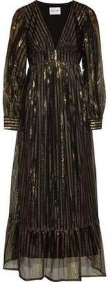 Antik Batik Chai Metallic Striped Tulle Maxi Dress
