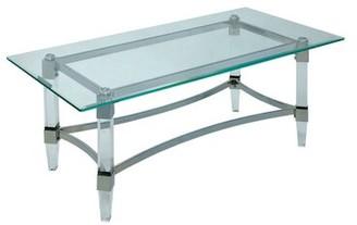 Rosdorf Park Missouri Contemporary Glass Top Rectangular Coffee Table