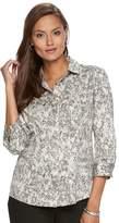 Dana Buchman Women's Button-Down Camp Shirt