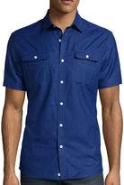 Claiborne Short-Sleeve Slim-Fit Woven Shirt