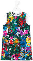 DSQUARED2 floral print dress - kids - Cotton/Spandex/Elastane - 4 yrs