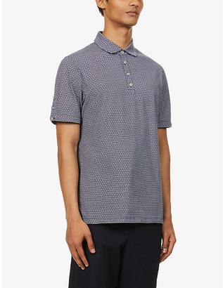 Ted Baker Geometric-print cotton polo shirt