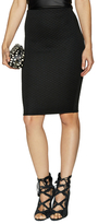Donna Mizani Quilted Midi Pencil Skirt