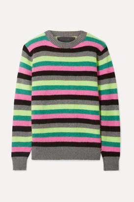 The Elder Statesman Striped Cashmere Sweater - Gray