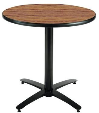 "Round Table KFI Studios Top Finish: Medium Oak, Size: 42"" H x 42"" L x 42"" W"