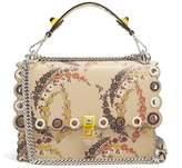 Fendi Kan I floral-print leather shoulder bag
