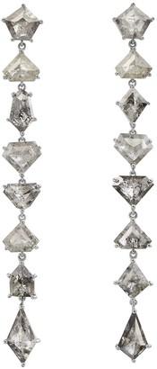 Nina Runsdorf Clair De Lune Organic Mix Shape Diamond Earrings