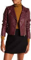 Romeo & Juliet Couture Faux Leather Moto Jacket