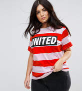 Asos T-Shirt in Bright Rugby Stripe and United Print