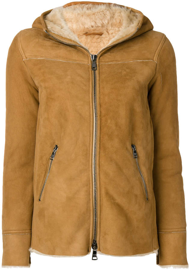 Giorgio Brato shearling hood coat