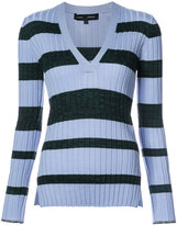 Proenza Schouler long sleeve V-neck top - women - Silk/Viscose/Cashmere/Wool - XS