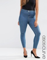 Asos Rivington Jeggings in Beau Tinted Blue Wash