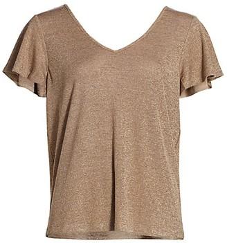 Paige Haider Flutter-Sleeve T-Shirt