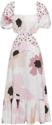 Peony Swimwear Soiree Cutout Linen Dress