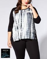 Penningtons Tess Holliday - Print Front 3/4 Sleeve Top