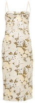 Brock Collection Floral-brocade Bustier Midi Dress - Womens - Green Multi