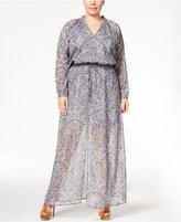 MICHAEL Michael Kors Size Printed Maxi Dress