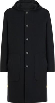 Fendi Single-Breasted Hooded Duffle Coat