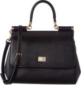 Dolce & Gabbana Sicily Small Leather Satchel