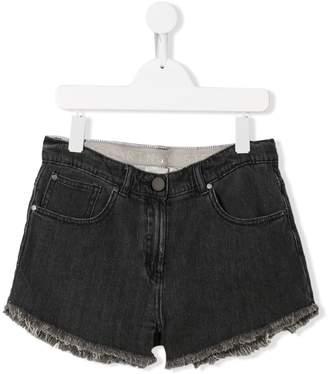 Stella McCartney TEEN High waist denim shorts